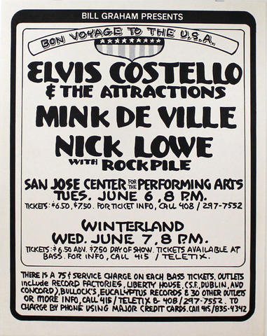 Elvis Costello & the Attractions Poster