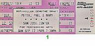 Peter, Paul & Mary 1980s Ticket