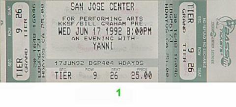 YanniVintage Ticket