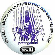 Peter GabrielVintage Pin
