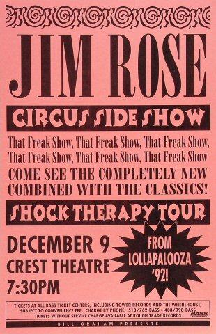 Jim Rose Circus Side ShowPoster