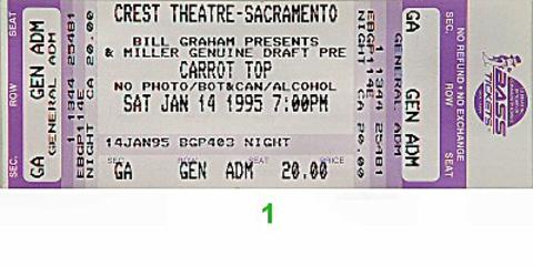 Carrot Top Vintage Ticket