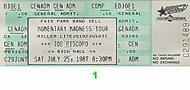 Joe Piscopo 1980s Ticket
