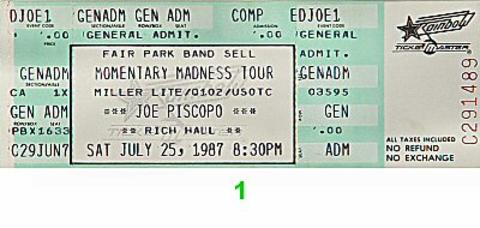 Joe Piscopo Vintage Ticket