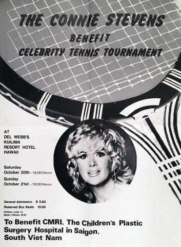 Connie Stevens Celebrity Benefit Tennis Tournament Poster