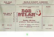 Bob Dylan1970s Ticket