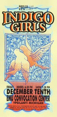 Indigo Girls Handbill