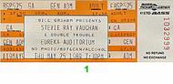 Stevie Ray Vaughan & Double Trouble 1980s Ticket