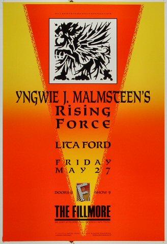 Yngwie J.Malmsteen's Rising Force Poster Fillmore Auditorium (San ...