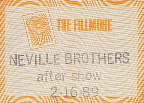 The Neville BrothersBackstage Pass