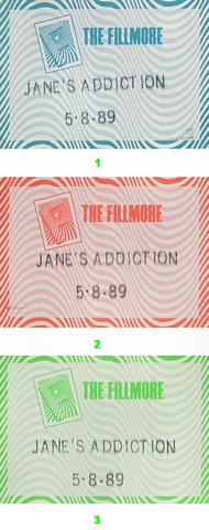 Jane's Addiction Backstage Pass