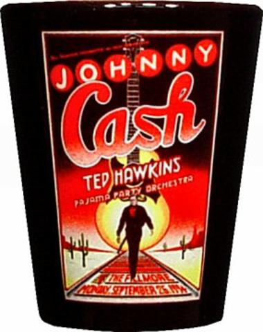 Johnny Cash Retro Shotglass
