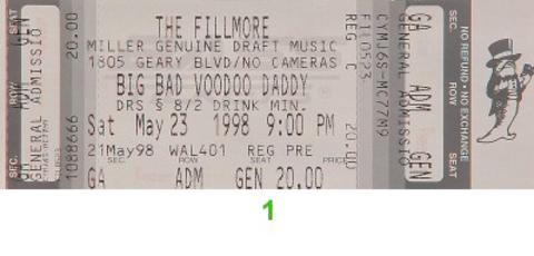 Big Bad Voodoo DaddyVintage Ticket