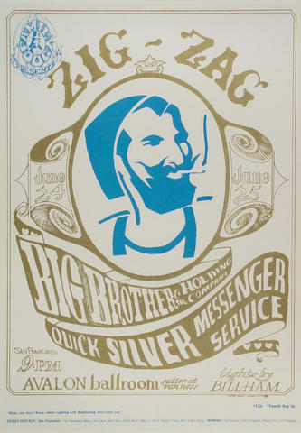 Big Brother and the Holding Company Poster from Jun 24, 1966