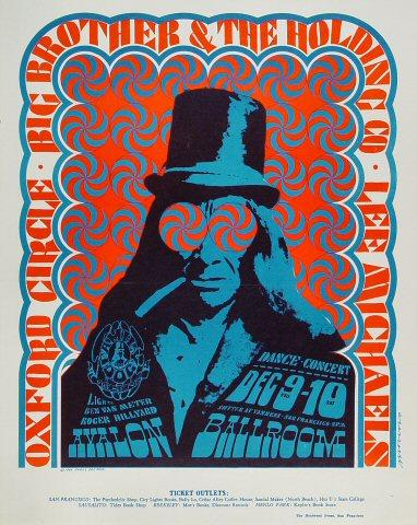 Big Brother and the Holding Company Poster from Dec 9, 1966