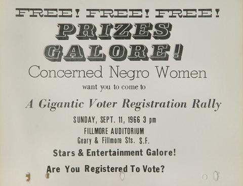 Concerned Negro Voter Registration RallyHandbill