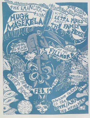 Hugh Masekela Handbill