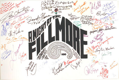 A Night At The Fillmore Poster