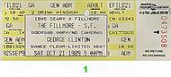 George Clinton & the P-Funk All-Stars 1980s Ticket