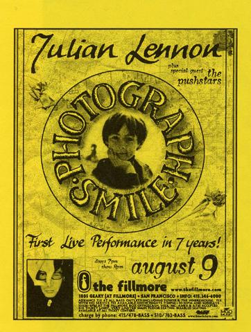Julian Lennon Handbill