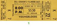 The Youngbloods 1970s Ticket
