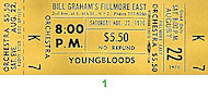 The Youngbloods Vintage Ticket