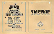 Jefferson Starship Handbill