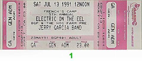 Jerry Garcia BandVintage Ticket