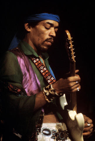 Jimi Hendrix Fine Art Print from Apr 27, 1969