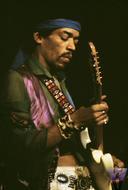 Jimi HendrixPremium Vintage Print