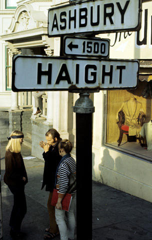 Haight Ashbury Street Sign Vintage Print
