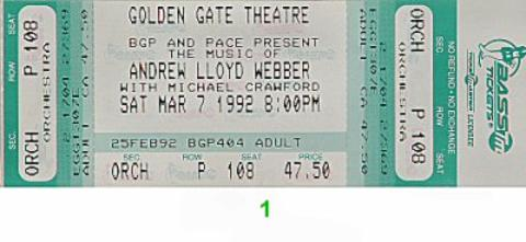 Michael CrawfordVintage Ticket