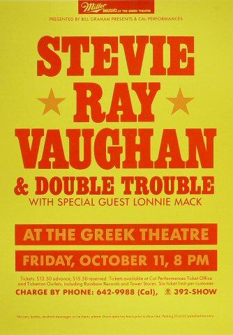 Stevie Ray Vaughan & Double Trouble Poster