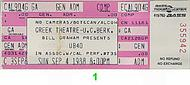 UB40 1980s Ticket