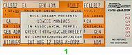 10,000 Maniacs 1980s Ticket