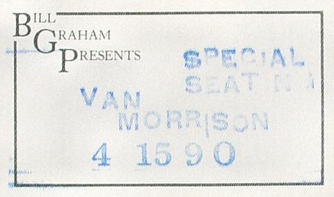 Van MorrisonBackstage Pass