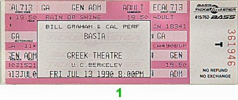 Basia Vintage Ticket