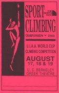 The World Cup Sport Climbing Championships 1990 Handbill