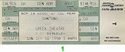 SantanaVintage Ticket