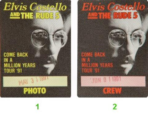 Elvis Costello Backstage Pass