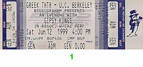 Gipsy Kings Vintage Ticket