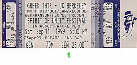 Spirit of Unity Festival Vintage Ticket