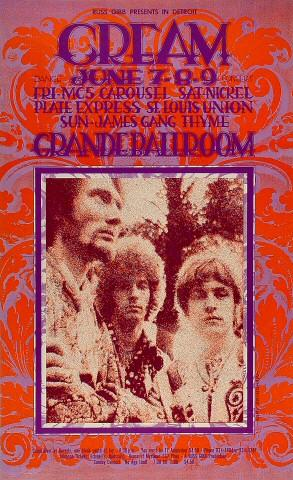 Cream Poster from Jun 7, 1968