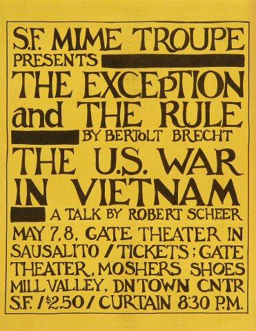 San Francisco Mime Troupe Handbill