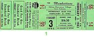 The Manhattans 1980s Ticket