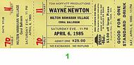 Wayne Newton 1980s Ticket