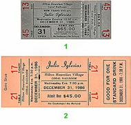 Julio Iglesias 1980s Ticket