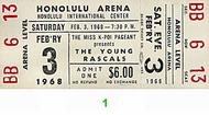 The Young Rascals 1960s Ticket