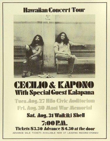 Cecilio and KaponoHandbill
