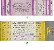 Grateful Dead1980s Ticket